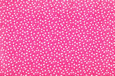 Small fuchsia floral pattern. White tulips and dots print on pink background. — Stock Photo