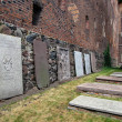 Gravestones in Malbork, Poland — Stock Photo