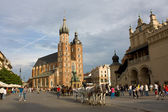 St. Mary's church in Cracow, Poland — Stock Photo
