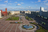 Minsk central square view, Belarus — Stock Photo