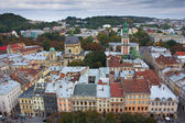 Old center of Lviv ( Lvov ), Ukraine — Stock Photo