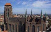 St. Mary Cathedral in Gdansk, Poland — Stock Photo