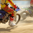 Motocross bikes racing in track — Stock Photo