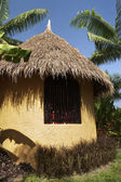 Kenya Masai hut — Stock Photo