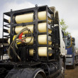CNG / NGV gas tanks for heavy truck , alternative fuel — Стоковое фото