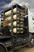 CNG/NGV gas containers for heavy truck , alternative fuel — Stock Photo