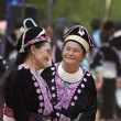 Stock Photo: Hmong Hill Tribe women in traditional costumes