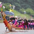 Stock Photo: Dragon boat in river