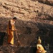 Sweep on Ancient pagoda — Stock Photo