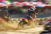 Motocross bike increase speed in track — Foto Stock
