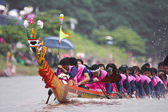 Dragon boat in the river — Stock Photo