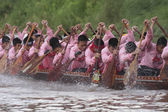Naan boat race — Stock Photo