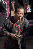 Lahu play traditional musical instrument — Stock Photo