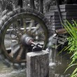 Water wheel turbine — Stock Photo