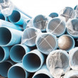 Stock Photo: New PVC pipes for water city supply system