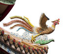 Chinese phoenix sculpture isolated — Stock Photo