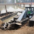 Dredge boat — Stock Photo