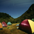 Moonlight on the tent camping in mountain — Stock Photo #14170853