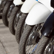 Row of motorcycles on the street — Stock Photo