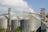 Silo agriculture granary industry — Stock Photo