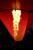 Fire of Hot Air Balloon — Stock Photo