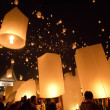 Floating lanterns — Stock Photo