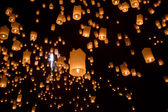 Floating asian lanterns — Zdjęcie stockowe