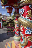 Post in chinese temple — Stock Photo