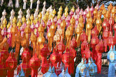 Thai lanterns in yee-peng festival — Stock Photo
