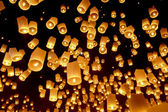 Floating lanterns — Stockfoto