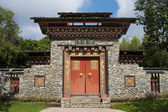 Arched gate Bhutan style — Stock Photo
