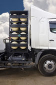 CNG/NGV gas containers for heavy truck , alternative fuel — Stock fotografie