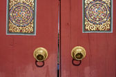 Wood gate Bhutan style — Stock Photo