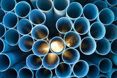 PVC pipes stacked — Stock Photo