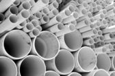 Size of PVC pipes — Stock Photo