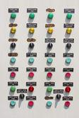 Pompy przemysłowe panelu sterowania, aby zarządzać zakładu. — Zdjęcie stockowe