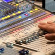 Audio sound mixer in concert — Stock Photo