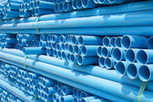 PVC pipes stacked in construction site — Stock Photo