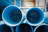 PVC Screen Pipe or Well Casing Pipes for submerged pump — Stock Photo