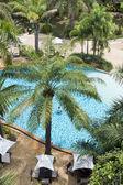 Swimming pool in beach resorts — Stock Photo