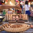 Stock Photo: Grilled sour pork in market