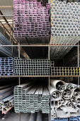 Metal pipes — Stockfoto
