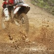 Motocross bike increase speed in track — Stock Photo #27254343