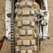 Stock Photo: Tyre of motocross bike