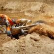 Stock Photo: Motocross crash