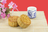 Moon cakes ,traditional chinese bakery . — Stock Photo