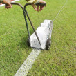 Sport Field Marking Paint — Stock Photo