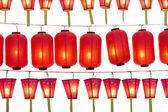 Japanese lanterns isolated on white — Stock Photo