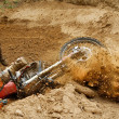 Motocross crash — Stock Photo