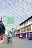 Thapae street in old city area ,Chiangmai Thailand. — Stock Photo